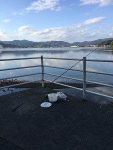 釣り。浜名湖にて。